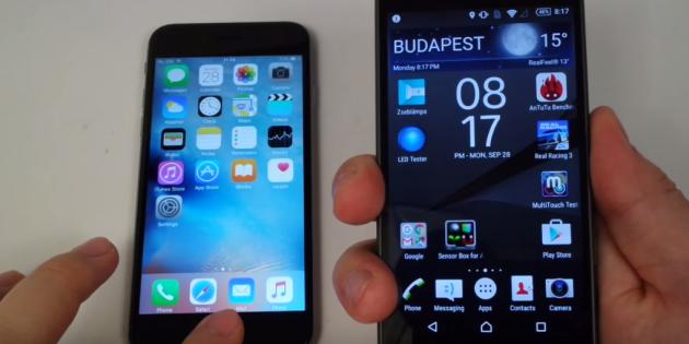 Sony Xperia Z5 Compact contro iPhone 6S: lettori di impronte digitali a confronto