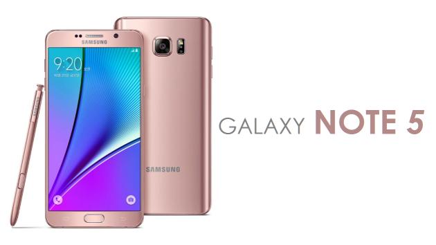Note 5: arriva la versione Rose Gold dello smartphone di Samsung