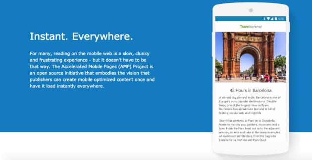 Google punta a velocizzare il web con Accelerated Mobile Pages