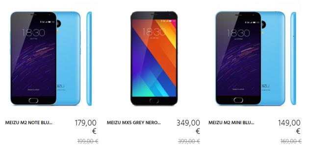 Meizu MX5, M2 e M2 Note in sconto sullo store italiano solo per oggi