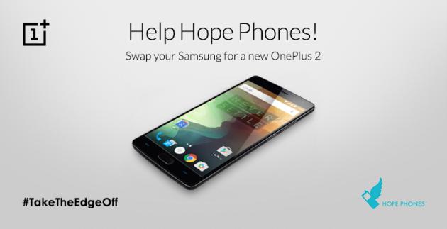 OnePlus vi regala un OnePlus 2 se donate il vostro Samsung Galaxy S6 o Galaxy Note 5