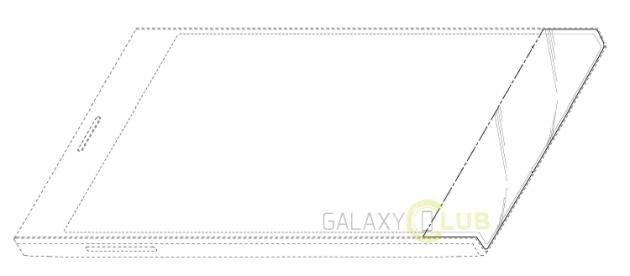 Samsung, un dispositivo con display curvo sulla parte superiore e inferiore mostrato in un brevetto