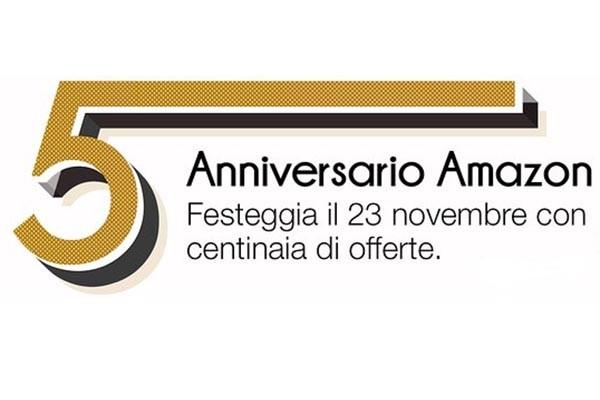Amazon: offerte speciali per i 5 anni in Italia e nuovo buono sconto da 10 Euro