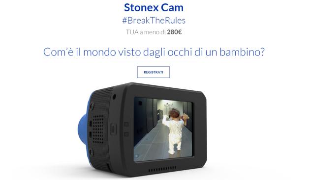 Stonex Cam: rivelato il design e prezzo inferiore ai 280€