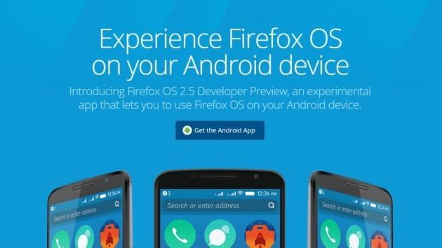 Firefox OS: provalo con il tuo smartphone Android