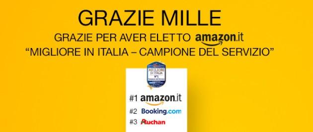Amazon.it eletta migliore in Italia: solo per oggi 10€ di sconto su tutti gli articoli