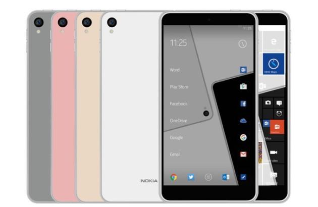 Nokia C1 si mostra in un nuovo render con Android e Windows Phone