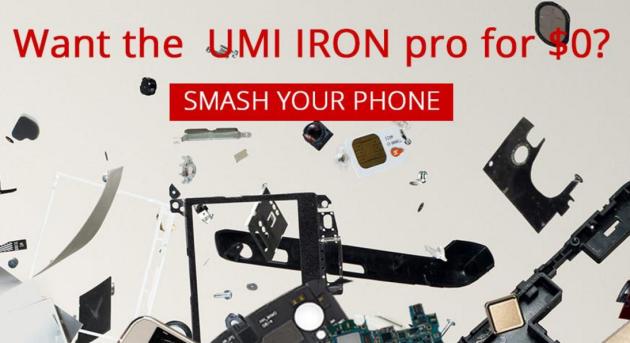 UMI offre un UMI Iron Pro in regalo a chi distrugge il proprio Elephone P8000