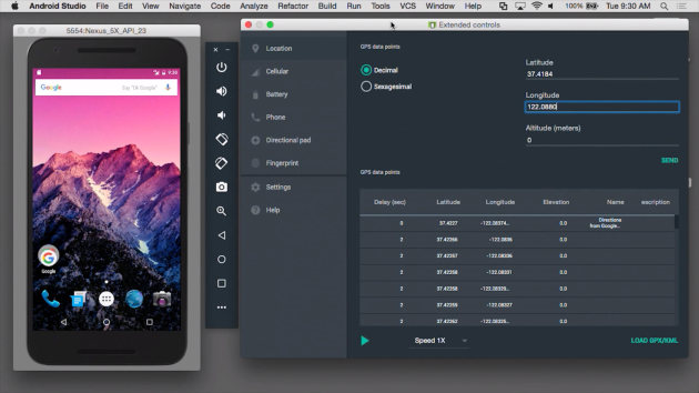Android Studio 2.0 permette di testare il nuovo emulatore