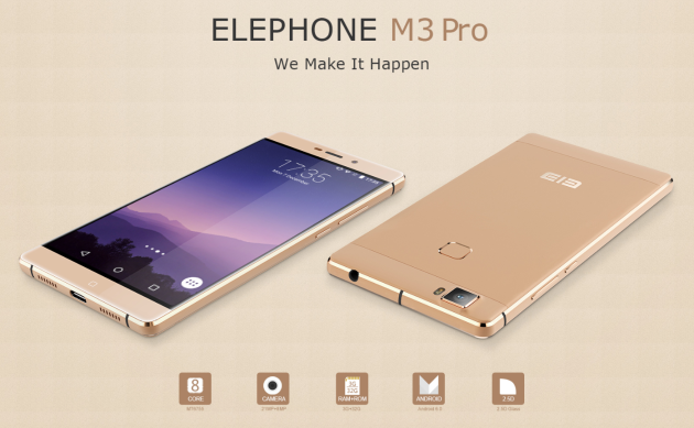 Elephone M3 Pro avrà un sensore Sony IMX230 e Android 6.0