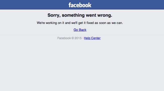 Facebook ancora problemi per il social network
