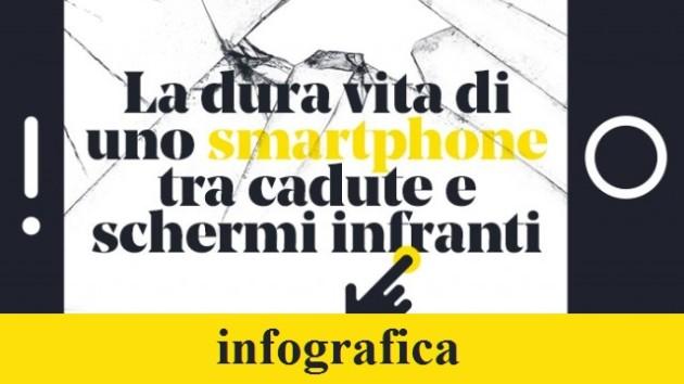 La dura vita di uno smartphone - Infografica