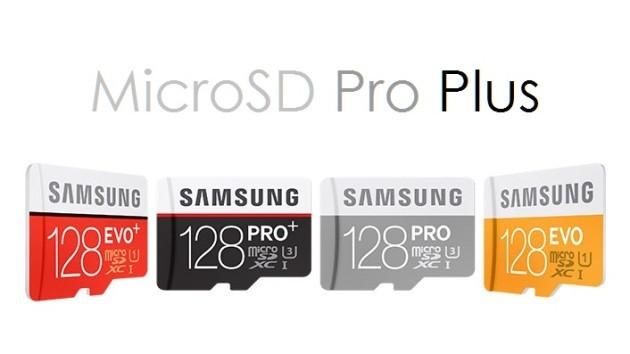 Samsung: ecco le nuove microSD PRO Plus da 128GB