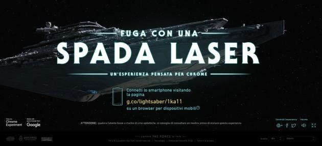 Star Wars, lo smartphone diventa una spada laser con il browser game di Google