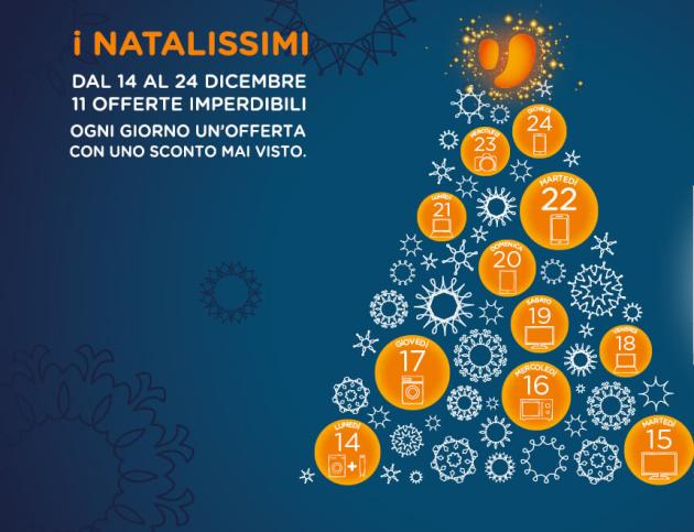 Unieuro lancia i Natalissimi: un'offerta speciale al giorno fino a Natale