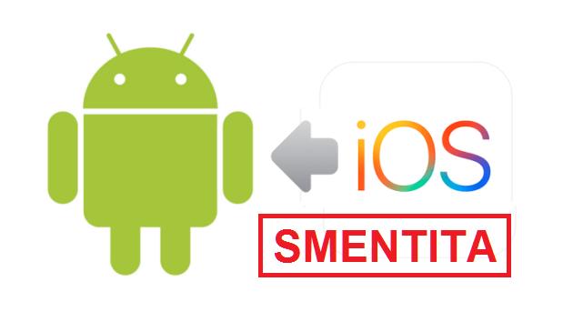 Apple: arriva la smentita ufficiale in merito a Move to Android