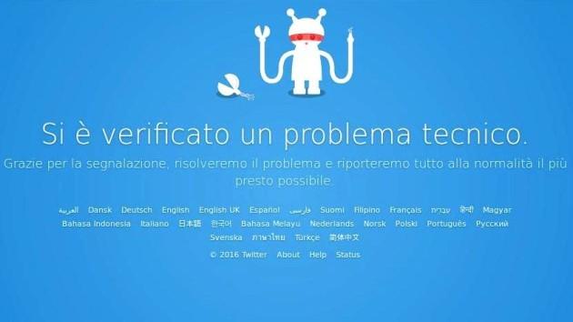 Twitter sta tornando operativo dopo i problemi tecnici di oggi