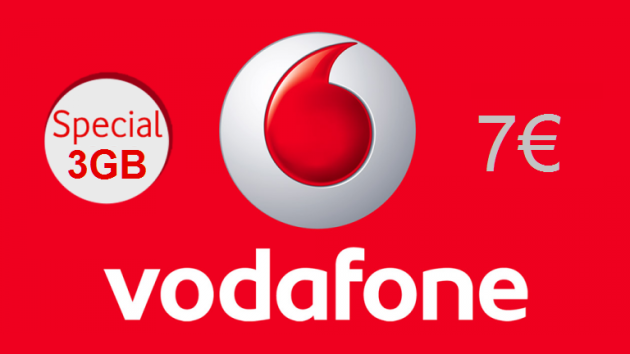 Vodafone Special 3GB al costo di 7 euro - UFFICIALE