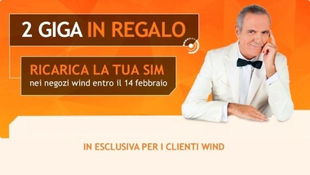 Wind: 2GB in regalo con ricariche di almeno 10€ in negozio