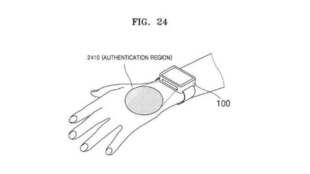Samsung deposita un brevetto per la scansione delle vene