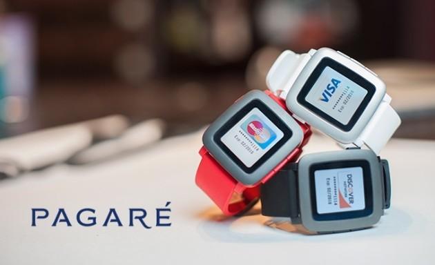 Pagarè: nuovo cinturino per Pebble che abilita i pagamenti in mobilità