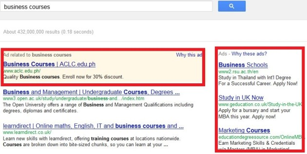 Google rimuoverà gli annunci pubblicitari a destra dei risultati di ricerca