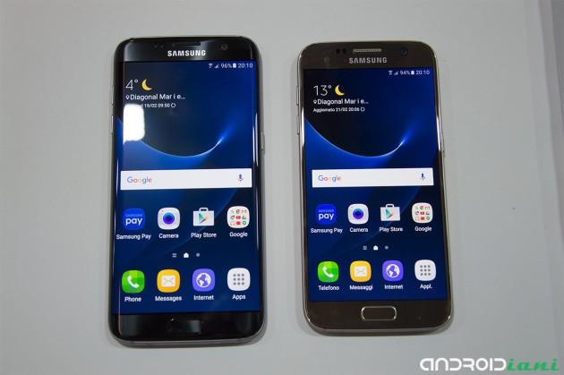 Samsung Galaxy S7 Exynos e Snapdragon confrontati fianco a fianco
