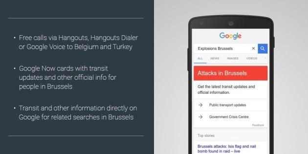 Google offre chiamate gratuite verso Belgio e Turchia su Hangouts e info per Bruxelles