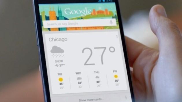 Google Now: arriva un'icona per l'accesso diretto al meteo