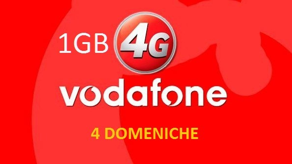 Vodafone: 1GB in 4G per 4 domeniche consecutive
