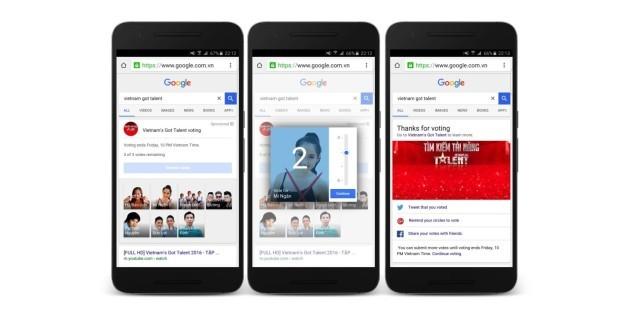 Google introduce le votazione dei talent show nel motore di ricerca