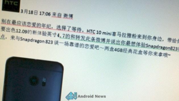 HTC 10 mini arriverà il prossimo settembre?