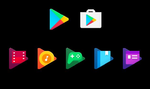 Google Play: In arrivo un colorato restyling per tutte le icone