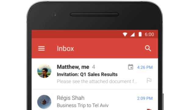 Gmail 6.4 espande il supporto a Microsoft Exchange a tutti i device