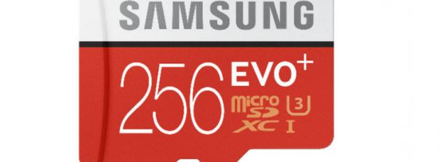 Samsung annuncia la MicroSD Evo Plus da 256GB