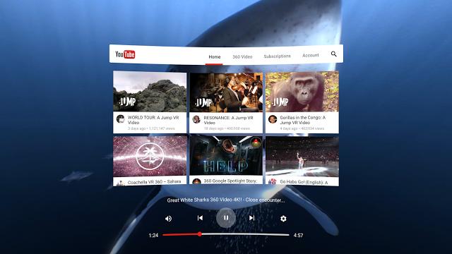 YouTube VR, la nuova applicazione per Daydream