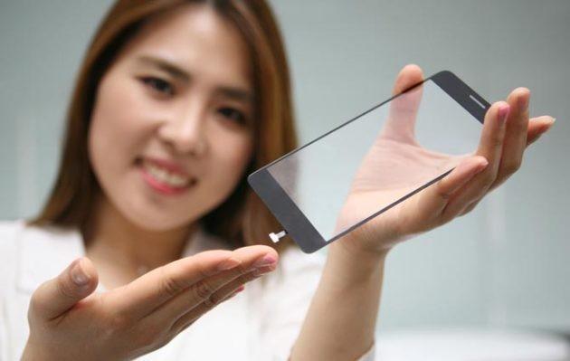 LG: lettore di impronte integrato nel pannello frontale