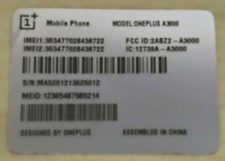 OnePlus 3 FCC listings