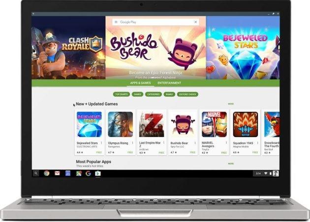 Play Store approda sui primi Chromebook