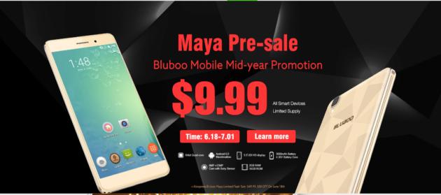 Bluboo ci riprova: Bluboo Maya e altri device di nuovo a 9.99$