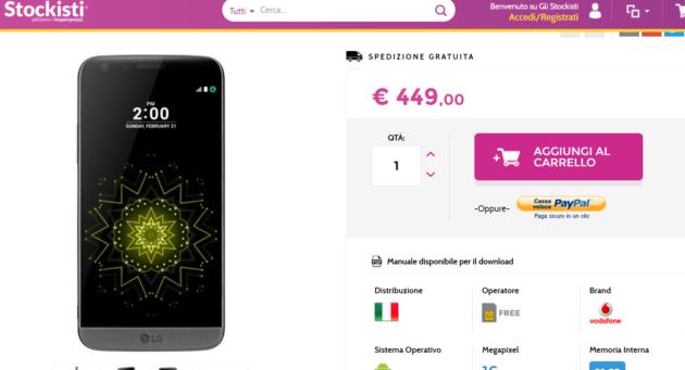 Gli Stockisti: LG G5 Italia a 449 Euro e Galaxy S6 edge Italia a 429 Euro