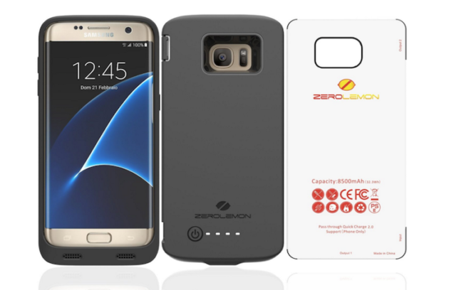 Galaxy S7 edge: ecco la cover con batteria integrata da 8500 mAh di ZeroLemon