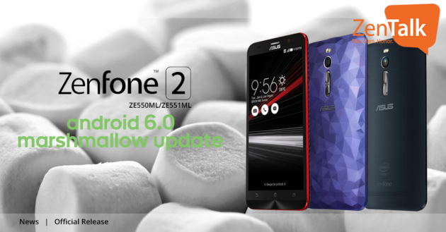 ASUS Zenfone 2 (ZE550ML e ZE551ML) si aggiorna ad Android 6.0.1 Marshmallow