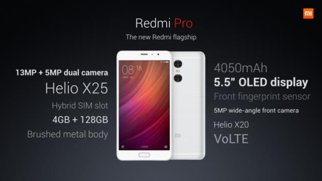 Xiaomi Redmi Pro ufficiale: display OLED, Helio X25 e dual-camera a partire da 200 Euro