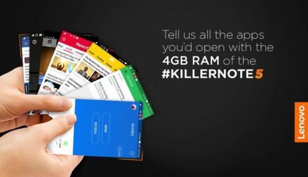 Lenovo K5 Note: nuova versione per l'India con 4GB di RAM