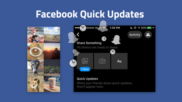 Facebook ci ritenta e copia Snapchat testando i Quick Updates