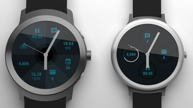 Prime immagini degli smartwatch Google con Android Wear