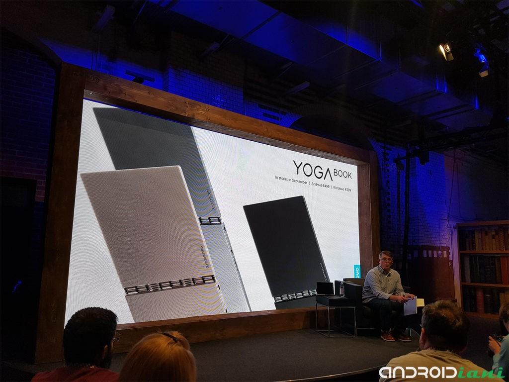 Lenovo Yoga Book, un tablet-netbook con tastiera piatta per appunti