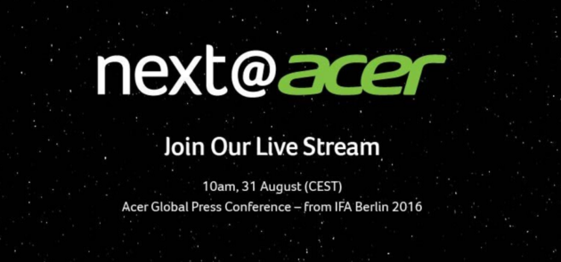 Evento Acer a IFA 2016: diretta live streaming