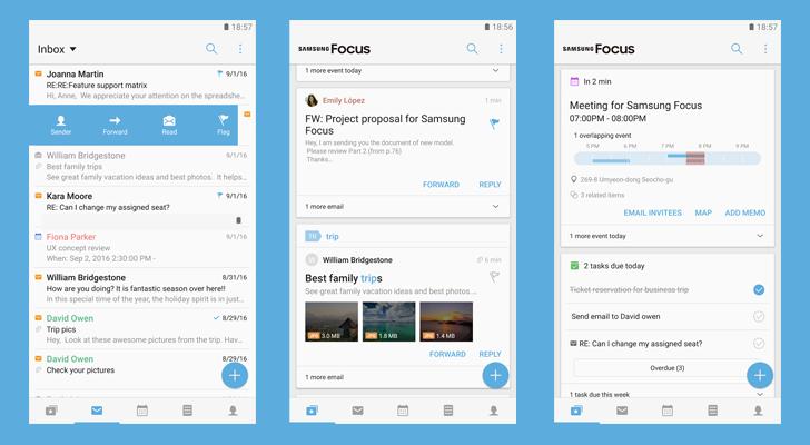 Samsung Focus: l'app che darà del filo da torcere a Blackberry Hub